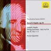 Joseph Haydn: String Quartets, Vol. 9, Op. 55 Nos. 1-3 / Auryn Quartet [Blu-ray audio]