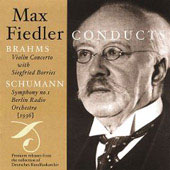 Brahms: Violin Concerto;  Schumann: Symphony no 1 / Fiedler