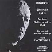 Brahms: Symphonies no 2, 3 / Knappertsbusch, Berlin PO