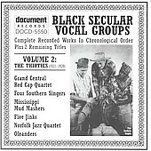 Various Artists: Black Secular Vocal Groups, Vol. 2