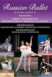 Russian Ballet Highlights / Selections from Giselle, Spartacus, Le Corsaire, etc. The Kirov & Bolshoi Ballets [DVD]
