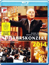 New Year's Concert 2014 - works by the Strauss family, Richard Strauss, Delibes, Hellmesberger, Lanner / Barenboim, Vienna PO [Blu-Ray]