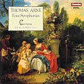 Arne: Four Symphonies / Adrian Shepherd, Cantilena