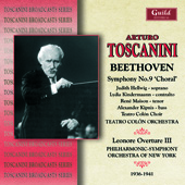 Beethoven: Symphony no 9, etc / Toscanini,