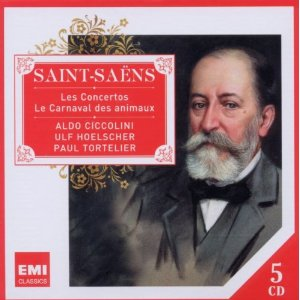 Saint-Saens: Concertos; Carnaval of the Animals / Ciccolini, Hoelscher, Tortelier [5 CDs]