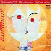 Tansman: Sinfonietta 1 & 2, Divertimento, Sinfonia picola