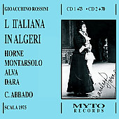 Rossini: L'italiana in Algeri / Abbado, Horne, Alva, Dara