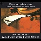 Geminiani: Sonates pour violoncelle avec la basse continue op 5 / Cocset, et al