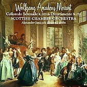 Mozart: Colloredo Serenade, K 203, etc / Janiczek, Scottish CO