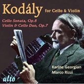 Kodály for Cello & Piano / Karine Georgian, cello and Marco Rizzi, piano
