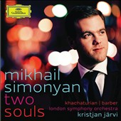 Two Souls: Khachaturian and Barber violin concertos / Mikhail Simonyan, violin