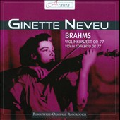 Brahms: Violin Concerto / Ginette Neveu, violin, Hans Schmidt, North German RSO (live, 5/3/48)