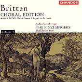 Britten: Choral Edition Vol 1 / Spicer, The Finzi Singers
