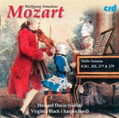 Mozart: Violin Sonatas, K. 377, K. 301, K. 305 & K. 379 / Howard Davis: violin; Virginia Black: harpsichord