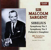 Sibelius: Symphony No. 1; Symphony No. 5; Pohjola's Daughter / Sir Malcolm Sargent; BBC SO