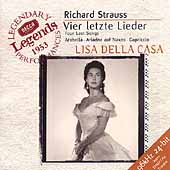 Strauss: Four Last Songs, Arabella, etc / Della Casa, et al