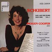 Schubert: The Last Six Years Vol 1 / Imogen Cooper
