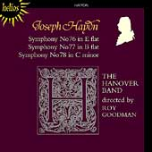 Haydn: Symphonies no 76, 77, 78 / Roy Goodman, Hanover Band