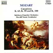 Mozart: Cassations K 63, 99 & 100 / Nerat, Salzburg CO