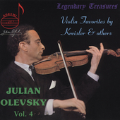 Legendary Treasures - Julian Olevsky Vol 4 / Ros&eacute;, et al