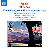 R&oacute;zsa: Violin Concerto, Sinfonia Concertante / Khitruk