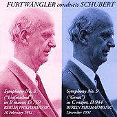 Schubert: Symphonies no 8-9 / Furtw&auml;ngler, Berlin PO