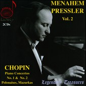 Menahem Pressler Plays Chopin Vol. 2 - Piano Concertos Nos. 1 & 2; Polonaises; Mazurkas / Menahem Pressler, piano