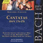 Edition Bachakademie Vol 53 - Cantatas BWV 176-178 / Rilling