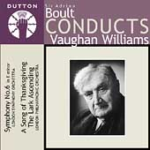 Vaughan Williams: Symphony no 6, etc / Boult, Londpn PO