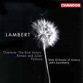 Lambert: The Bird Actors Overture, etc / Lanchbery, et al