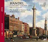Handel: Six Concerti Grossi from Op 6 / Manze, Ancient Music