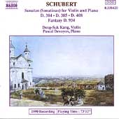 Schubert: Sonatinas for Violin & Piano / Kang, Devoyon