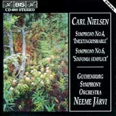 Nielsen: Symphonies no 4 & 6 / J&#228;rvi, Gothenburg SO