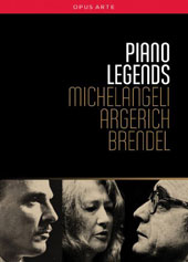 Piano Legends - Michelangeli, Argerich, Brendel. Performances of complete works, concert footage, interviews, visits behind the scenes & documentaries [5 DVDs]