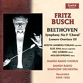 Beethoven: Symphony no 9 Op. 125, Leonore Overture no 3 Op. 72a / Busch, et al