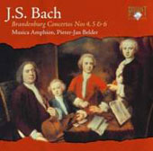 Bach: Brandenburg Concertos no 4 and 5 / Pieter-Jan Belder, Musica Antiphon