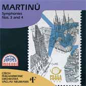 Martinu: Symphony no 3-4 / Neumann, Czech Philharmonic