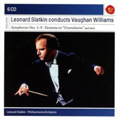 Leonard Slatkin conducts Vaughan William - Symphonies nos 1-9; Sea Songs; 'Tallis' & 'Greensleeves' Fantasias et al. [6 CDs]