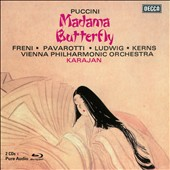 Puccini: Madama Butterfly / Freni, Pavarotti, Ludwig, Kerns; Vienna PO; Karajan [CD+Blu-Ray Audio]