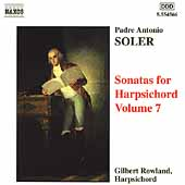 Soler: Sonatas for Harpsichord Vol 7 / Gilbert Rowland