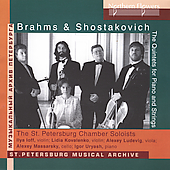 Brahms, Shostakovich: Quintets for Piano and Strings