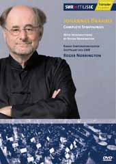 Brahms: Complete Symphonies (1-4) / Roger Norrington, RSO Stuttgart (with introductions by Mr. Norrington) [2 DVD]