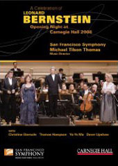 Tilson Thomas / San Francisco SO / A Celebration of Leonard Bernstein - Opening Night at Carnegie Hall, 2008 [DVD]