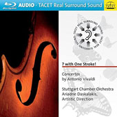 '7 with One Stroke!' concertos by Vivaldi / Stuttgart CO, Ariadne Daskalakis [Blu-ray audio]