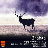 Brahms: Symphonies no 3 & 4 / Daniel Harding, et al