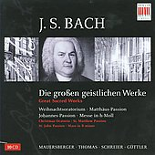 Bach: Great Sacred Works / G&uuml;ttler, Schreier, Genz, Oelze, Markert, Hall&eacute; Madrigal Singers, et al