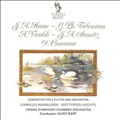 J.A. Hasse, G.Ph. Telemann, A. Vivaldi, J.A. Stamitz, D. Cimarosa: Concertos for 2 Flutes and Orchestra / Camillo Wanausek & Gottfried Hechtl, flutes; Vienna Symphpny CO (rec. 1971)