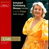 Schubert, Sch&ouml;nberg, Strauss: Lieder / Lucia Popp