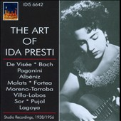 The Art of Ida Presti: Studio Recordings, 1938-1956