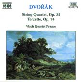 Dvor&aacute;k: String Quartet Op 34, Terzetto / Vlach Quartet